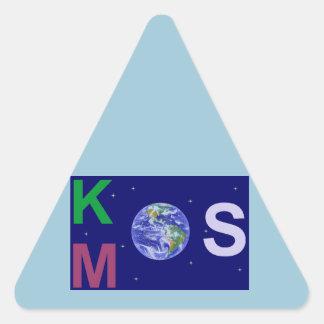 Sticker Triangulaire Kosmos étoilé