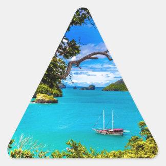 Sticker Triangulaire La belle Thaïlande