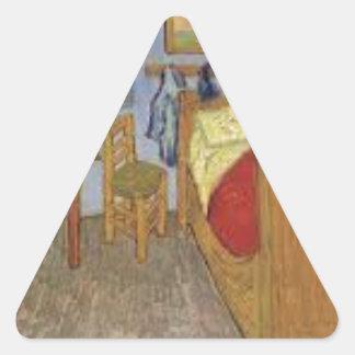 Sticker Triangulaire La chambre de Vincent Van Gogh (The room)