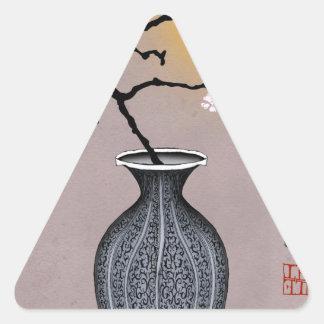 Sticker Triangulaire la lune élégante des fernandes et la fleur de 2