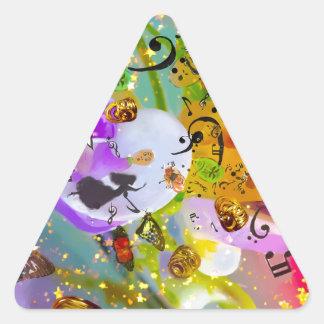 Sticker Triangulaire La musique peut exprimer tout et dire rien