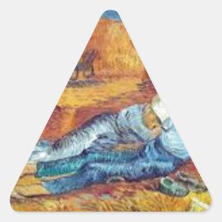 Sticker Triangulaire La Sieste de Vincent Van Gogh (Noon)