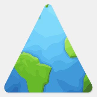 Sticker Triangulaire la terre