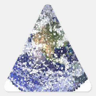 Sticker Triangulaire la terre de cube