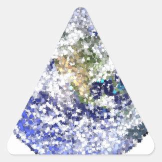 Sticker Triangulaire la terre de feuille
