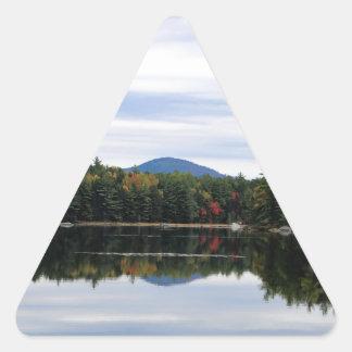 Sticker Triangulaire Lac Millinocket de montagne de Kellogg