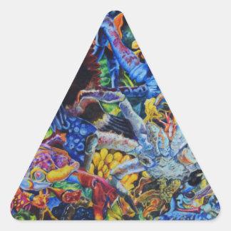 Sticker Triangulaire Lagune de homard