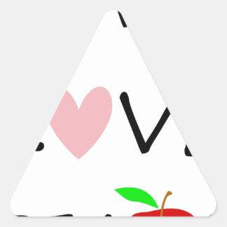 Sticker Triangulaire l'amour vivant enseignent
