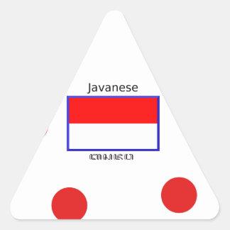 Sticker Triangulaire Langue de Javanese et conception indonésienne de