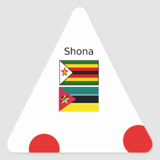 Sticker Triangulaire Langue de Shona et drapeaux du Zimbabwe et de la