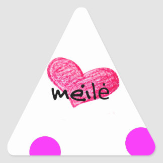 Sticker Triangulaire Langue lithuanienne de conception d'amour