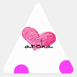 Sticker Triangulaire Langue maorie de conception d'amour