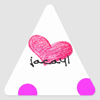 Sticker Triangulaire Langue somalienne de conception d'amour