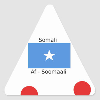 Sticker Triangulaire Langue somalienne et conception de drapeau de la