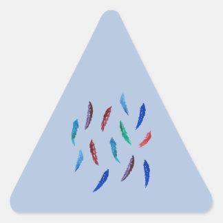 Sticker Triangulaire L'aquarelle fait varier le pas de l'autocollant