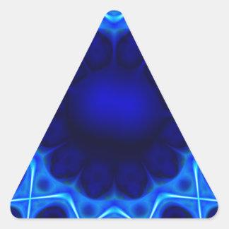 Sticker Triangulaire laser bleu #3