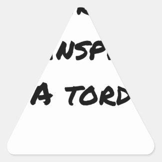 Sticker Triangulaire L'ASPIRATEUR M'INSPIRE À TORT - Jeux de mots
