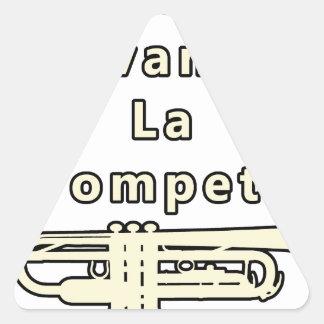 Sticker Triangulaire Le Calme avant la Trompette - Jeux de Mots