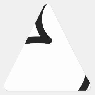 Sticker Triangulaire Le caoutchouc mignon
