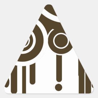 Sticker Triangulaire Le cercle vise l'égoutture