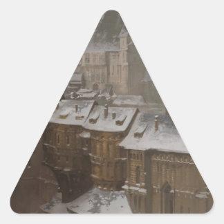 Sticker Triangulaire Le château du propriétaire