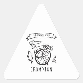 Sticker Triangulaire Le cycliste fonctionnel - vélo se pliant Brompton