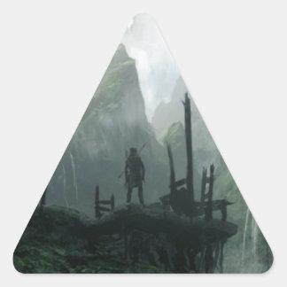 Sticker Triangulaire Le dernier guerrier du clan de montagne