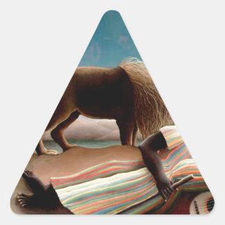 Sticker Triangulaire Le gitan de sommeil