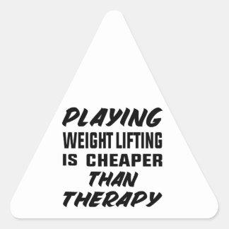 Sticker Triangulaire Le jeu de l'haltérophilie est meilleur marché que