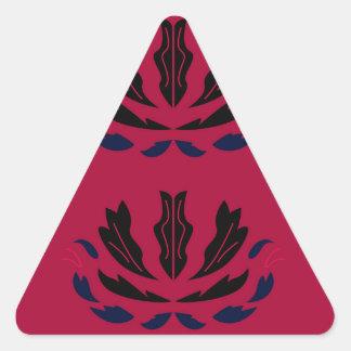 Sticker Triangulaire Le luxe ornemente le redblack