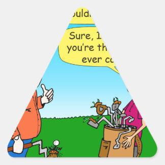 Sticker Triangulaire le meilleur verseur 946 dans la bande dessinée de