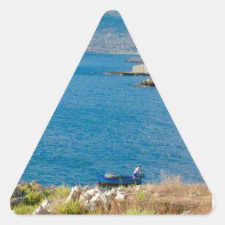 Sticker Triangulaire Le pêcheur sicilien