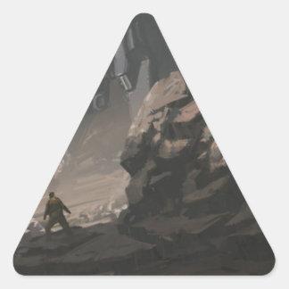 Sticker Triangulaire Le pilleur de la dernière guerre