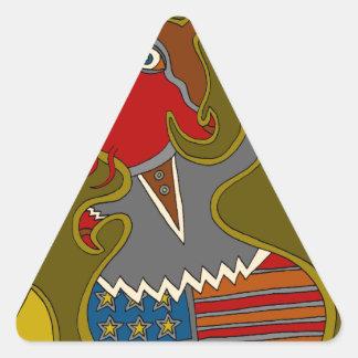 Sticker Triangulaire Le politicien