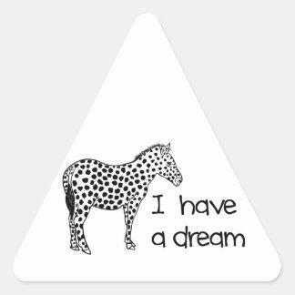 Sticker Triangulaire le rêve du zèbre
