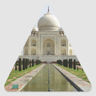 Sticker Triangulaire Le Taj Mahal