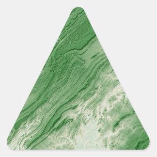 Sticker Triangulaire Les Appalaches dans le style de l'Alabama la