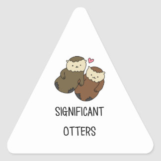 Sticker Triangulaire Les chemises du couple SIGNIFICATIF de LOUTRES,