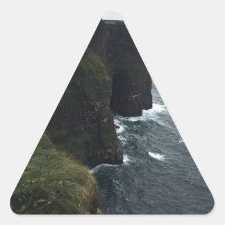 Sticker Triangulaire Les falaises de Moher