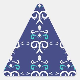 Sticker Triangulaire Les gens bleus ornementent le luxe