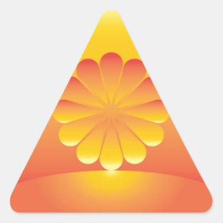Sticker Triangulaire les hausses du soleil