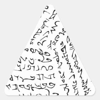 Sticker Triangulaire Les mots sont magiques