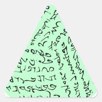 Sticker Triangulaire les mots sont magiques (le vert en bon état)