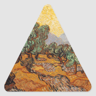 Sticker Triangulaire Les oliviers de Vincent Van Gogh (Olives trees)