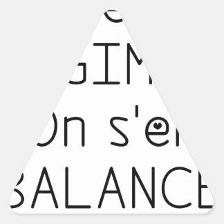 Sticker Triangulaire Les RÉGIMES on s'en BALANCE - Jeux de Mots