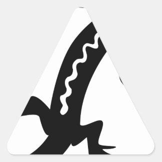 Sticker Triangulaire Lézard noble