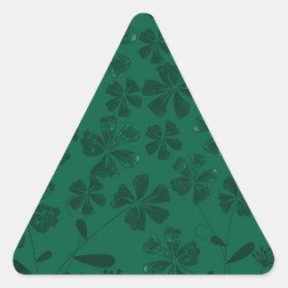 Sticker Triangulaire lflowers verts