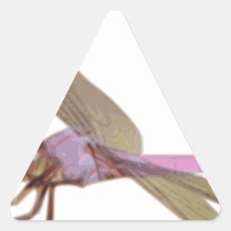 Sticker Triangulaire Libellule