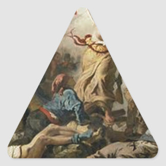 Sticker Triangulaire Liberté menant les personnes