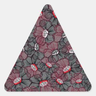 Sticker Triangulaire ligne fleur